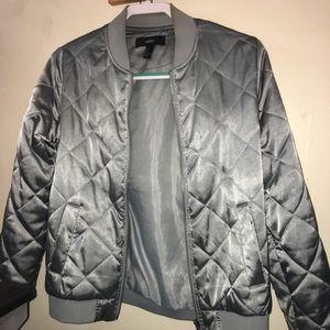 Satin Bomber Jacket
